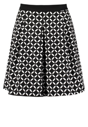 Anna Field Pleated Skirt Black White