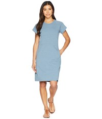 The North Face Terry Dress Blue Wing Teal Heather Gray
