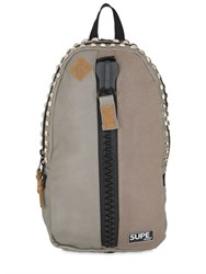 Supe Design Studded Faux Leather Backpack