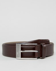 Hugo By Boss Leather Ellot Belt In Brown Brown