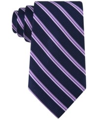 Michael Kors Men's Houndstooth Stripe Tie Purple