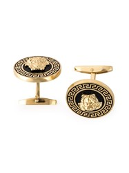 Versace Laquered Medusa Cufflinks Black