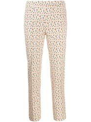 Akris Punto Patterned Trousers Neutrals