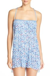 In Bloom By Jonquil Pleat Chiffon Chemise Blue