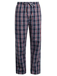 Derek Rose Barker Cotton Pyjama Trousers Navy Multi