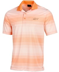 Greg Norman For Tasso Elba Men's Striped Polo Created For Macy's Apricot Haze