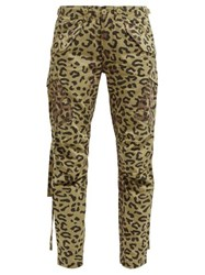 Maharishi Leopard And Camo Print Cotton Twill Cargo Trousers Leopard