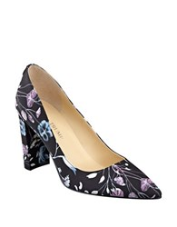 Ivanka Trump Katie2 Floral Print Pumps Black