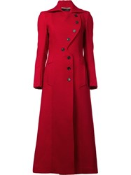 Roland Mouret 'Denham' Long Coat Red