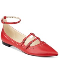 Marc Fisher Aura Studded Flats Women's Shoes Festival Red