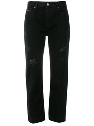 Ck Calvin Klein Jeans Cropped Slim Fit Jeans Black