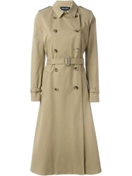 Vanessa Seward Flared Long Trench Coat Nude And Neutrals