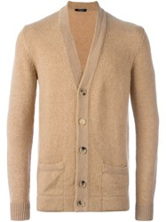 Roberto Collina Classic Cardigan Nude And Neutrals
