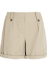 Burberry Cotton And Linen Blend Shorts