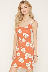 Forever 21 Floral Print Bodycon Dress