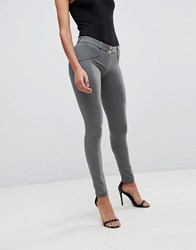 Freddy Wr.Up Shaping Effect Mid Rise Snug Stretch Push Up Jegging Grey