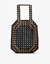 Christophe Lemaire Wood Beads Bag Black