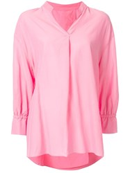 Kuho V Neck Blouse X Pink