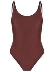 Haight Open Back Swimsuit Brown