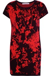 Diane Von Furstenberg Alix Merino Wool Mini Dress Red