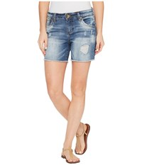 Kut From The Kloth Gidget Frayed Shorts In Constructive Constructive Medium Base Wash Women's Shorts Blue