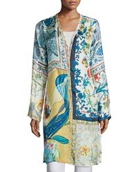 Johnny Was Sunday Printed Button Front Long Cardigan Women's