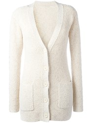 See By Chloe Chunky Knit Cardigan Nude Neutrals