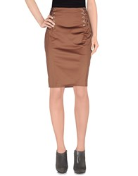 Pinko Black Skirts Knee Length Skirts Women Cocoa