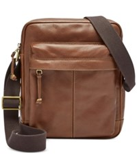 Fossil Men's Leather City Bag Brown