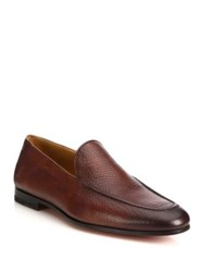 Saks Fifth Avenue Venetian Tumbled Leather Loafers