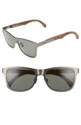 Shwood 'Canby' 54Mm Titanium And Wood Sunglasses Gunmetal Walnut Gunmetal Walnut
