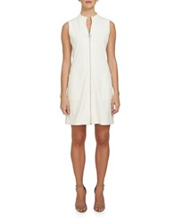 1.State Solid Mockneck Dress Ivory