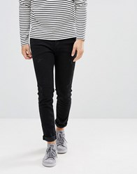 Selected Homme Skinny Jeans With Repairs Black