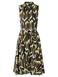 Hobbs Rowena Dress Green