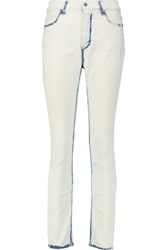 Mcq By Alexander Mcqueen Mid Rise Skinny Jeans Off White