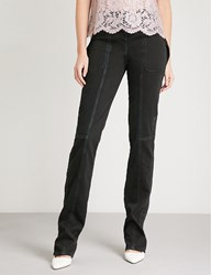 Valentino Strap Detailed Slim Fit Skinny Jeans Nero