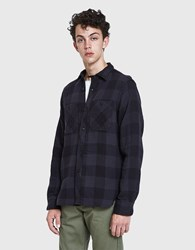 Rogue Territory Bm Shirt In Grey Quilted Plaid