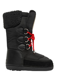 Dsquared Nylon And Leather Snow Boots Black