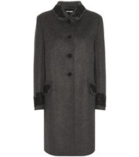Miu Miu Wool Coat Grey