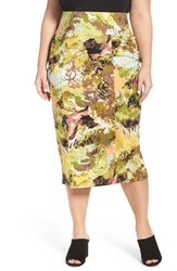 Melissa Mccarthy Seven7 Plus Size Women's Print Pencil Skirt