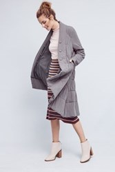 Anthropologie Puffed Seattle Coat Light Grey