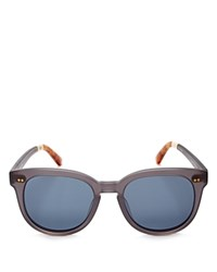 Toms Dodoma Round Sunglasses 50Mm Matte Slate Gray Blue Solid