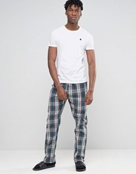 Esprit Lounge Pants In Woven Check In Regular Fit Navy