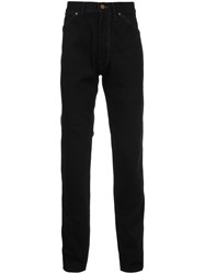 Christophe Lemaire Straight Trousers Black