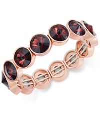 Charter Club Bezel Set Crystal Stretch Bracelet Only At Macy's Purple Rose