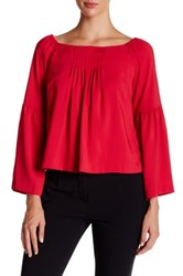 Nanette Lepore Island Party Bell Sleeve Blouse Red