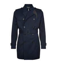 Sandro Magnetic Trench Coat Male Blue