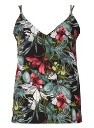 Dorothy Perkins Green Tropical Print Camisole Top