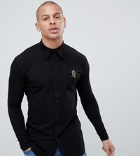 Gym King Muscle Long Sleeve Shirt In Black Exclusive To Asos