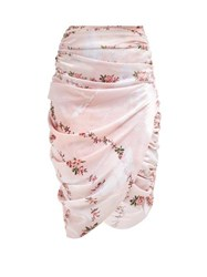 Preen By Thornton Bregazzi Marion Ruched Skirt Pink Multi